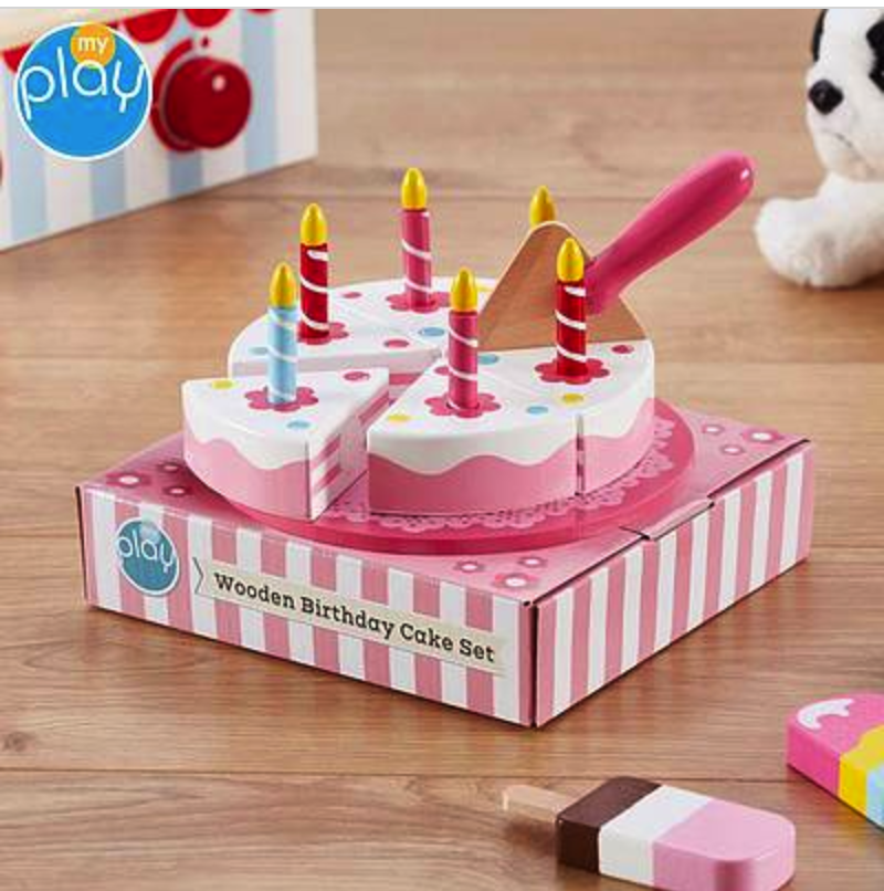 Incredible My Play Wooden Birthday Cake Set Independent Offers Personalised Birthday Cards Paralily Jamesorg